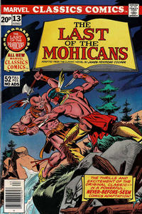 Cover Thumbnail for Marvel Classics Comics (Marvel, 1976 series) #13 - The Last of the Mohicans [British]
