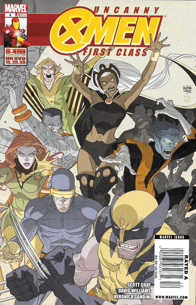 Cover for Uncanny X-Men: First Class (Marvel, 2009 series) #4