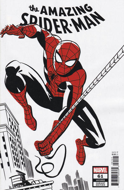 Cover for Amazing Spider-Man (Marvel, 2018 series) #61 (862) [Variant Edition - Michael Cho 'Spider-Man Two-Tone' Cover]