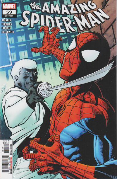 Cover for Amazing Spider-Man (Marvel, 2018 series) #59 (860) [Avengers Mech Strike - Leonel Castellani Cover]