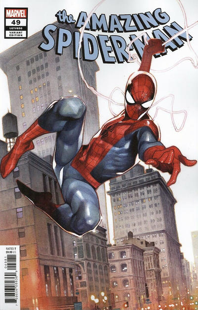 Cover for Amazing Spider-Man (Marvel, 2018 series) #49 (850) [Variant Edition - Nick Bradshaw Cover]