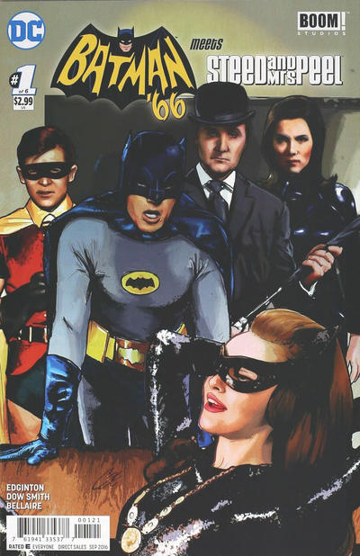Cover for Batman '66 Meets Steed and Mrs. Peel (DC, 2016 series) #1 [Cat Staggs Cover]