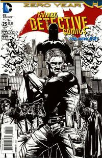 Cover Thumbnail for Detective Comics (DC, 2011 series) #25 [Jason Fabok Black & White Cover]