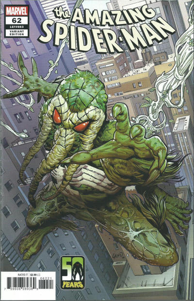 Cover for Amazing Spider-Man (Marvel, 2018 series) #62 (863) [Variant Edition - Man-Thing: 50 Years - Greg Land Cover]