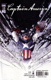 Cover Thumbnail for Captain America (Marvel, 2002 series) #13 [Direct Edition]