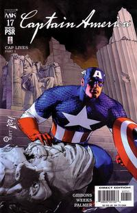 Cover Thumbnail for Captain America (Marvel, 2002 series) #17 [Direct Edition]