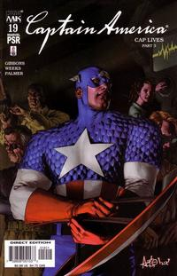Cover for Captain America (Marvel, 2002 series) #19 [Direct Edition]