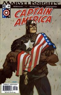 Cover Thumbnail for Captain America (Marvel, 2002 series) #23 [Direct Edition]