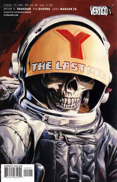 Cover for Y: The Last Man (DC, 2002 series) #15