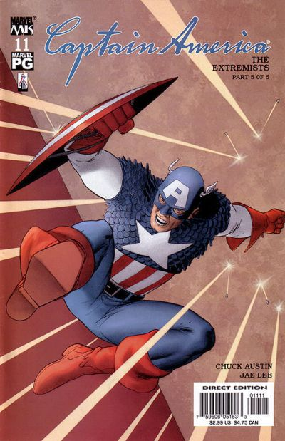 Cover for Captain America (Marvel, 2002 series) #11 [Direct Edition]