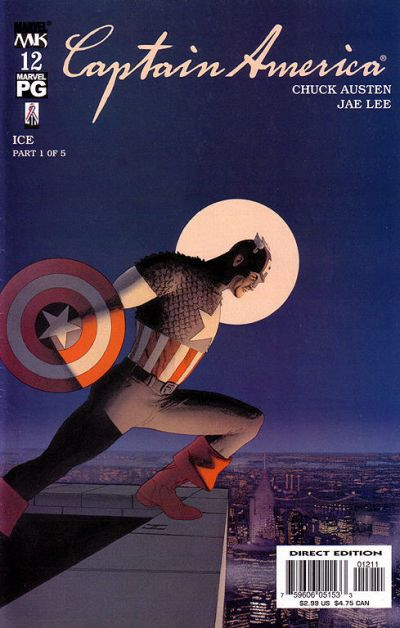 Cover for Captain America (Marvel, 2002 series) #12 [Direct Edition]