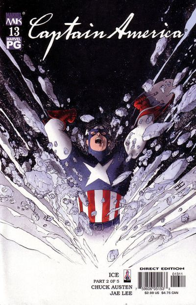 Cover for Captain America (Marvel, 2002 series) #13 [Direct Edition]