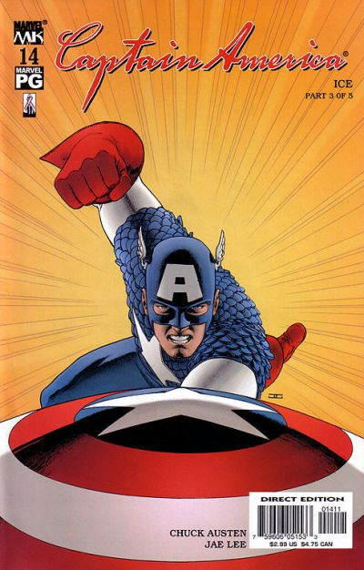 Cover for Captain America (Marvel, 2002 series) #14 [Direct Edition]