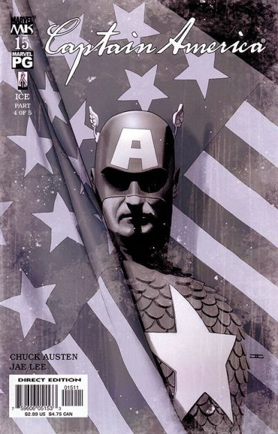 Cover for Captain America (Marvel, 2002 series) #15 [Direct Edition]