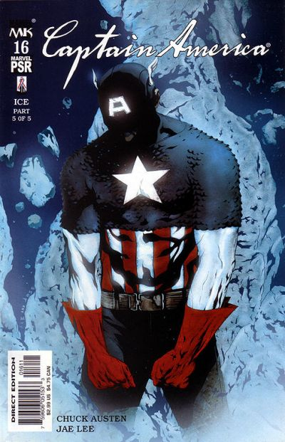Cover for Captain America (Marvel, 2002 series) #16 [Direct Edition]