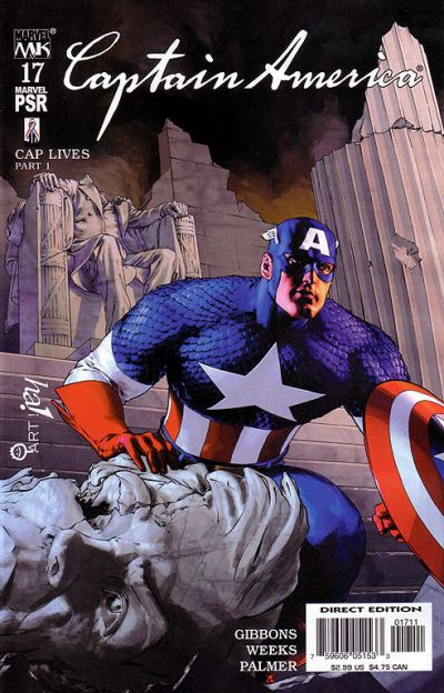 Cover for Captain America (Marvel, 2002 series) #17 [Direct Edition]