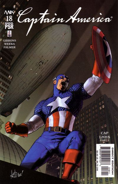 Cover for Captain America (Marvel, 2002 series) #18 [Direct Edition]
