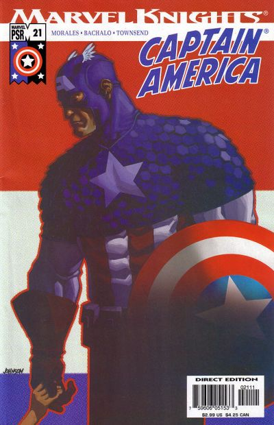 Cover for Captain America (Marvel, 2002 series) #21 [Direct Edition]