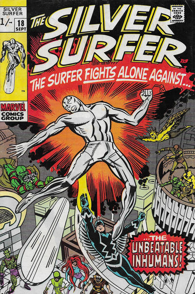 Cover for The Silver Surfer (Marvel, 1968 series) #18 [British]