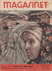 Cover for Magasinet (Oddvar Larsen; Odvar Lamer, 1946 ? series) #33-34/1948