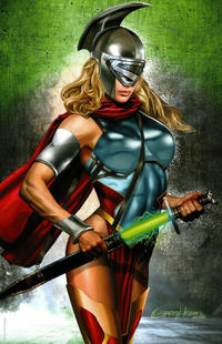Cover Thumbnail for Batman / Superman (DC, 2019 series) #1 [ComicXposure Greg Horn Supergirl Virgin Cover]