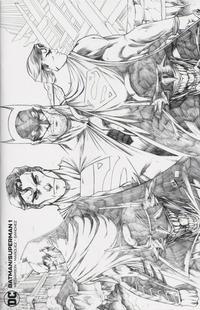 Cover Thumbnail for Batman / Superman (DC, 2019 series) #1 [Comics Elite Ryan Kincaid Sketch Cover]