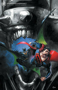 Cover Thumbnail for Batman / Superman (DC, 2019 series) #1 [Scorpion Comics Clayton Crain Minimal Trade Dress Cover]