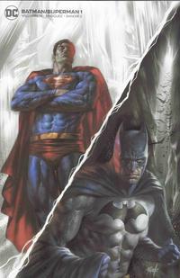 Cover Thumbnail for Batman / Superman (DC, 2019 series) #1 [Scorpion Comics Lucio Parrillo Minimal Trade Dress Cover]