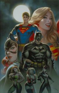 Cover Thumbnail for Batman / Superman (DC, 2019 series) #1 [Warren Louw Virgin Cover]