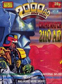 Cover Thumbnail for 2000 AD (Fleetway Publications, 1987 series) #538