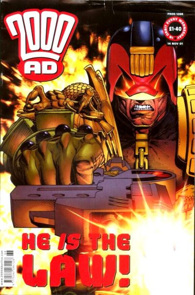 Cover for 2000 AD (Rebellion, 2001 series) #1268