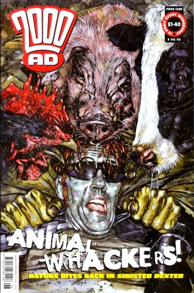 Cover for 2000 AD (Rebellion, 2001 series) #1298