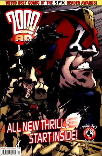 Cover for 2000 AD (Rebellion, 2001 series) #1300
