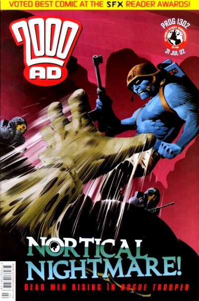 Cover for 2000 AD (Rebellion, 2001 series) #1302