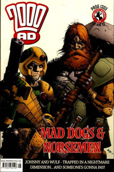 Cover for 2000 AD (Rebellion, 2001 series) #1305