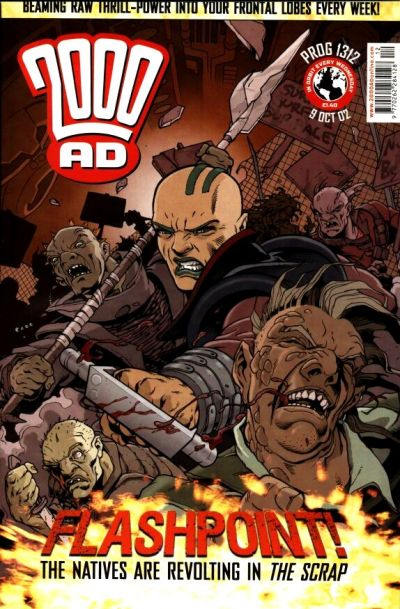Cover for 2000 AD (Rebellion, 2001 series) #1312