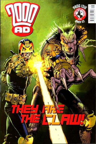 Cover for 2000 AD (Rebellion, 2001 series) #1316