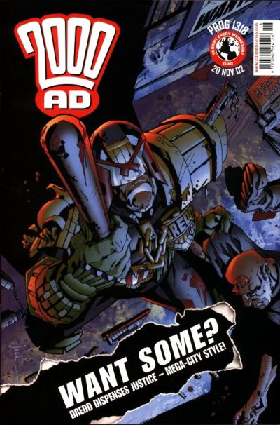 Cover for 2000 AD (Rebellion, 2001 series) #1318