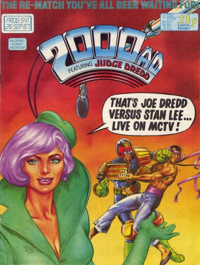 Cover for 2000 AD (Fleetway Publications, 1987 series) #541
