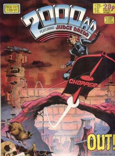 Cover for 2000 AD (Fleetway Publications, 1987 series) #547