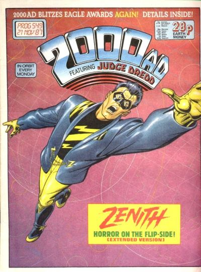 Cover for 2000 AD (Fleetway Publications, 1987 series) #549
