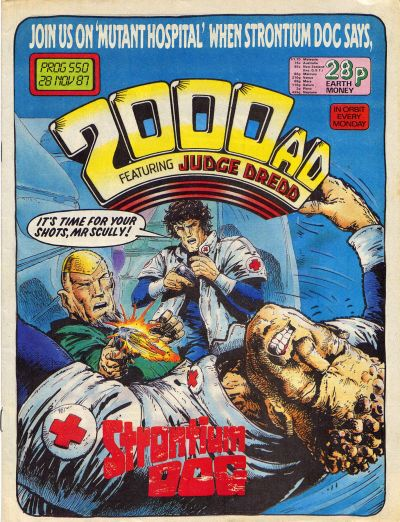 Cover for 2000 AD (Fleetway Publications, 1987 series) #550