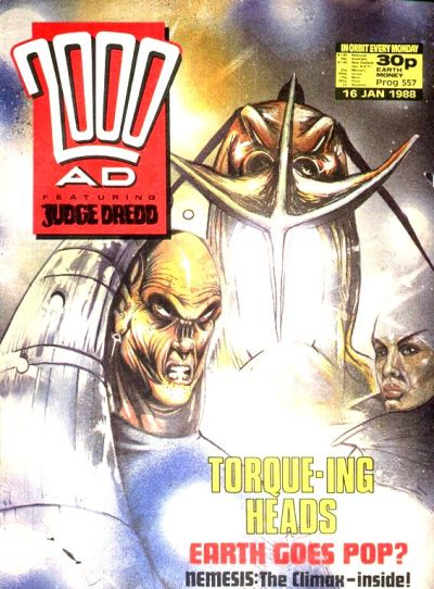 Cover for 2000 AD (Fleetway Publications, 1987 series) #557