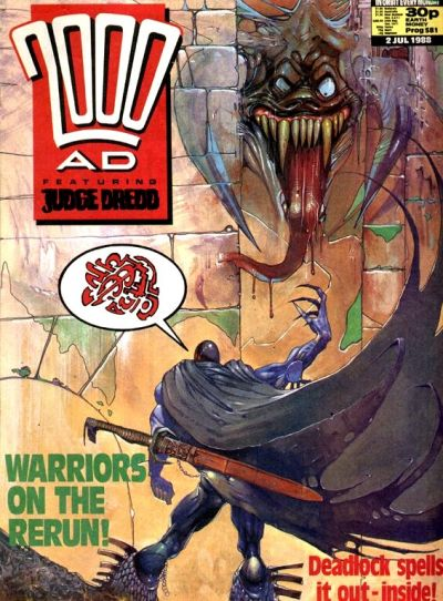 Cover for 2000 AD (Fleetway Publications, 1987 series) #581