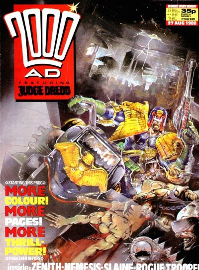 Cover for 2000 AD (Fleetway Publications, 1987 series) #589