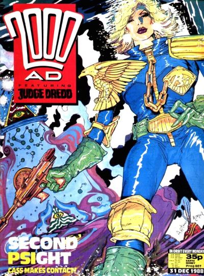 Cover for 2000 AD (Fleetway Publications, 1987 series) #607