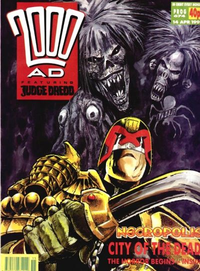 Cover for 2000 AD (Fleetway Publications, 1987 series) #674
