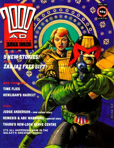 Cover for 2000 AD (Fleetway Publications, 1987 series) #700