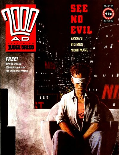 Cover for 2000 AD (Fleetway Publications, 1987 series) #702