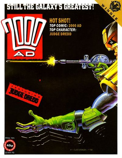 Cover for 2000 AD (Fleetway Publications, 1987 series) #704